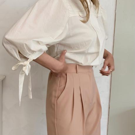ribbon sleeve blouse