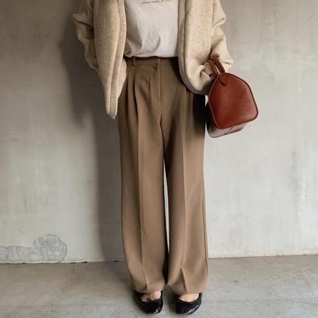 two‐tuck slacks[brown]