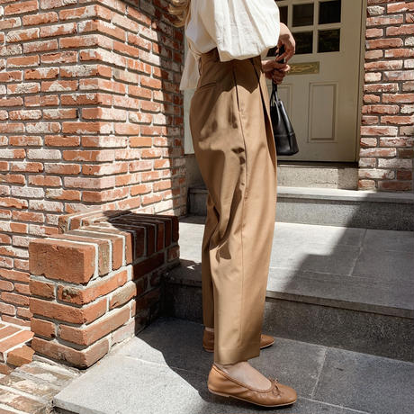 tapered pants[camel]