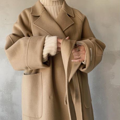 handmade gown long coat[beige]