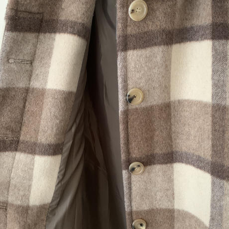 check soutien collar coat[beige]