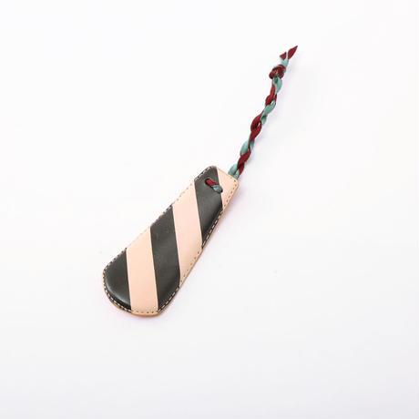 SHOE HORN mini black stripe×orange