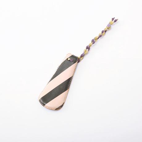 SHOE HORN mini black stripe×blue