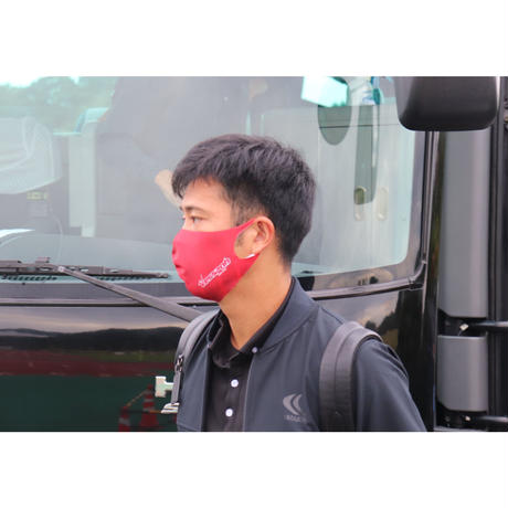 『さらっと優しい』快適素材の洗えるマスク(レッド)