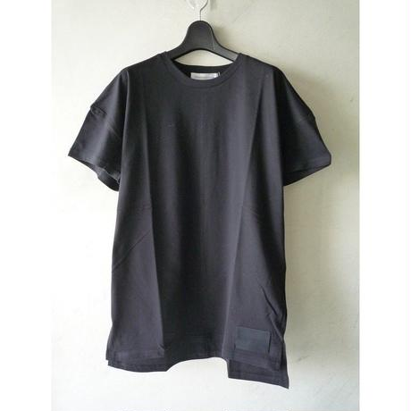 """DIET BUTCHER SLIM SKIN """"leather patch shirt sleeve-T"""""""