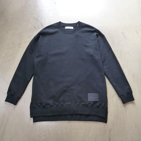 "diet butcher slim skin "" leather patch big crew neck"""