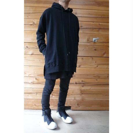 "diet butcher slim skin ""leather patch big hoodie"""