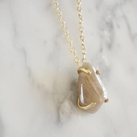 Stone Necklace/ストーンネックレス-GOLD-