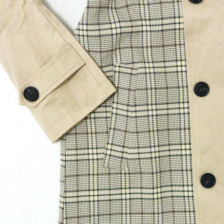 Combi Check Trench Coat/コンビチェックトレンチコート