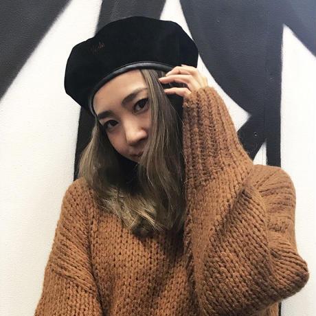 ViiDAベロアベレー帽(black)