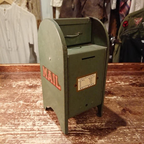 【 1940's All American 】 Mail Box Metal Bank