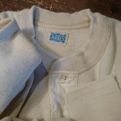 1940s  HANES   Henley neck  L/S  underwear