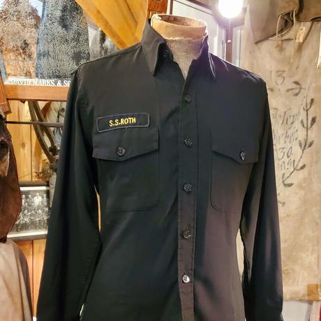 【1980s  HANOVER UNIFORM CO. 】Black collar shirt.
