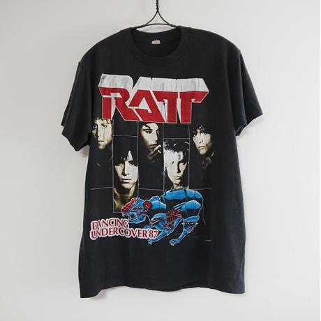 【 1980s   RAT・POISON 】Lock  T-shirt.