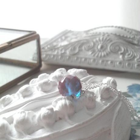 アンティーク サフィレットビーズ Silver925製ネックレス