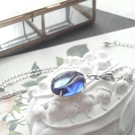 ヴィンテージ Blue 2-tone ネックレス(シルバー)