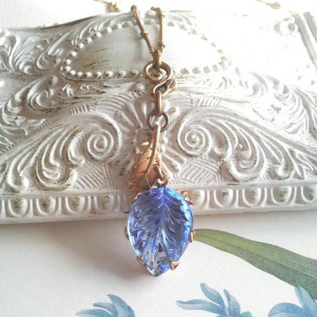 ヴィンテージ Blue-leaf/Leaf ネックレス