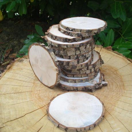 スライスした木材、幅7-8-9-10 cm 10個入り