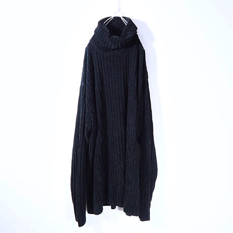 Turtleneck Chenille Lib Knit