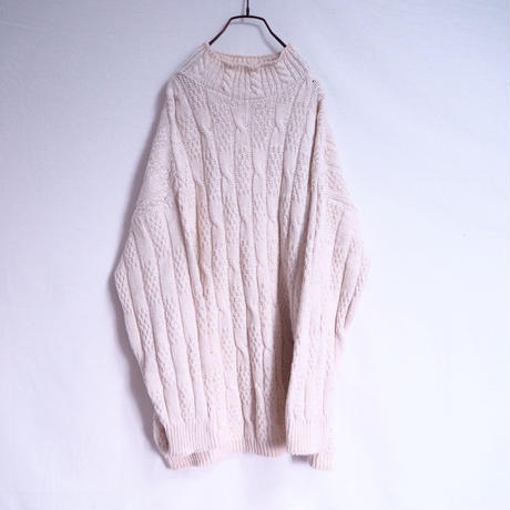 Ivory Cotton  Cable Knit