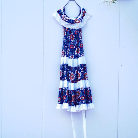 Flower Frill Cotton one-piece
