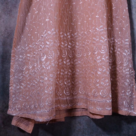Crease Finish Coral Pink Dress