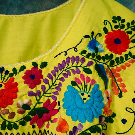 Mexico Hand Embroidery  Dress