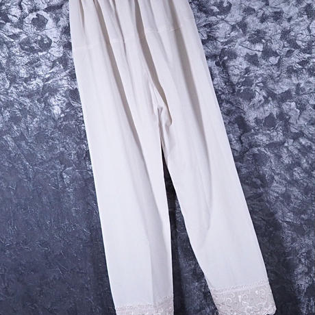 Embroidery  Hem Lace Pants