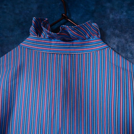 Candy Stripe Frill Blouse