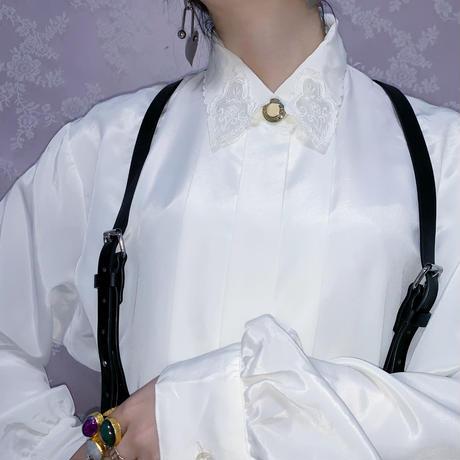 Lace Design Collar Blouse