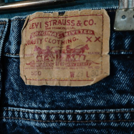 Levi's 550 Tapered Chemical Wash Denim