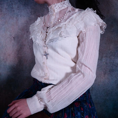 70's Victorian Frill Blouse