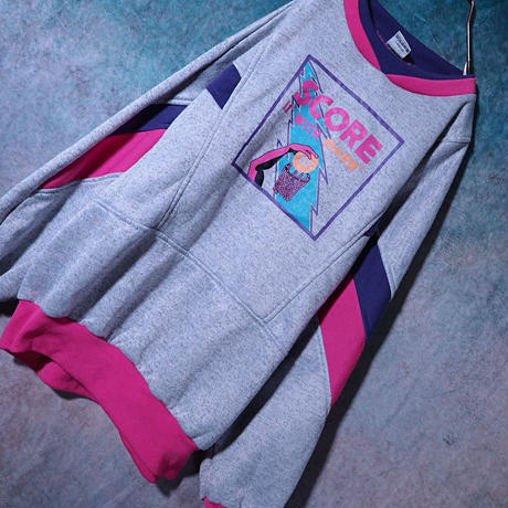 80's Pink×Purple Sweat