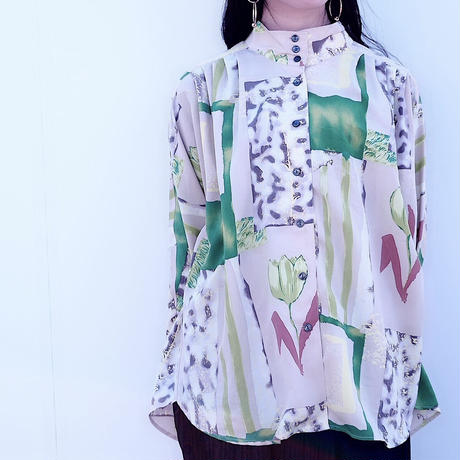 Lime Green Art Pattern Shirt