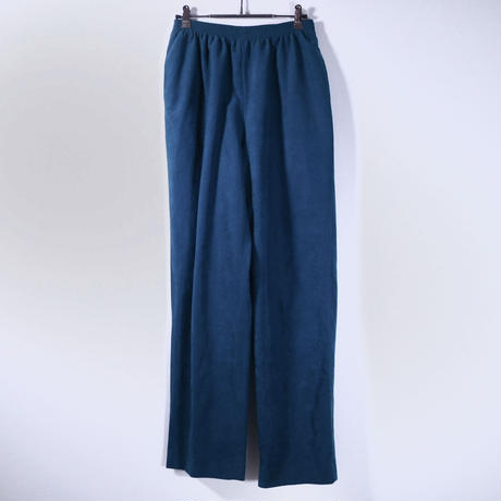 Peacock Green Suède Easy Pants