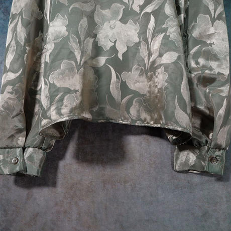 Sheen Flower Frill Blouse