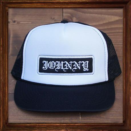 JOHNNY MESH CAP 【BLACK×WHITE】ROUND VISOR
