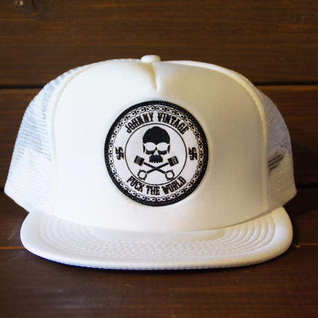 JOHNNY MESH CAP 【WHITE/FTW】  サークルワッペン