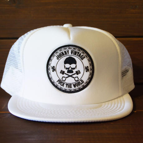 JOHNNY MESH CAP 【WHITE/CHOP】  サークルワッペン