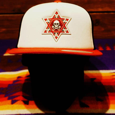 2017 JOHNNY CAP 【BLACK & WHITE&つばRED】HEXAGRAM