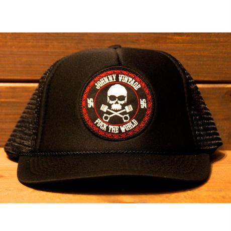 JOHNNY MESH CAP【BLK/BLK】ROUND VISOR