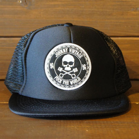 JOHNNY MESH CAP 【BLACK/FTW】  サークルワッペン