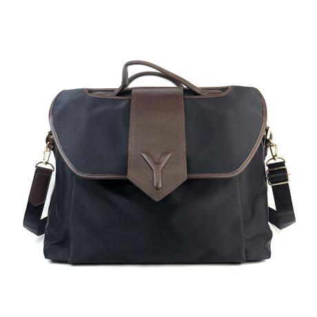 Yves Saint Laurent イヴ サンローラン Yロゴ バイカラー ビジネスバッグ vintage ヴィンテージ オールド ブラック ブラウン YSL