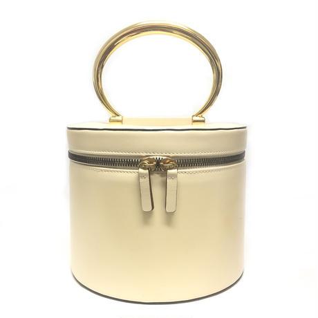 CELINE セリーヌ メタル ラウンド ハンドル バニティバッグ ベージュ vintage ヴィンテージ オールドセリーヌ ハンドバッグ コスメボックス