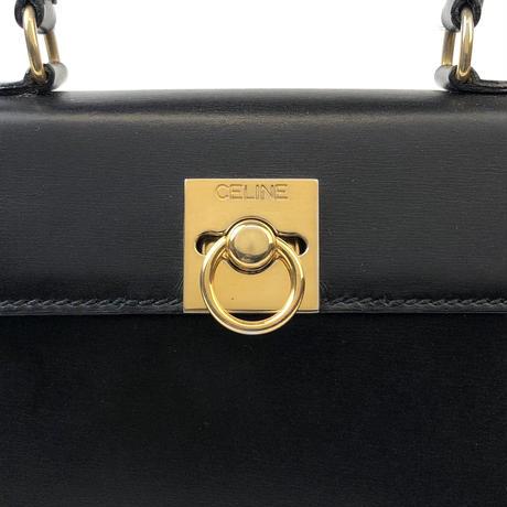 c2e1471494b7 ... CELINE セリーヌ ガンチーニ ミニ ハンドバッグ ブラック vintage ヴィンテージ オールドセリーヌ パーティー ...