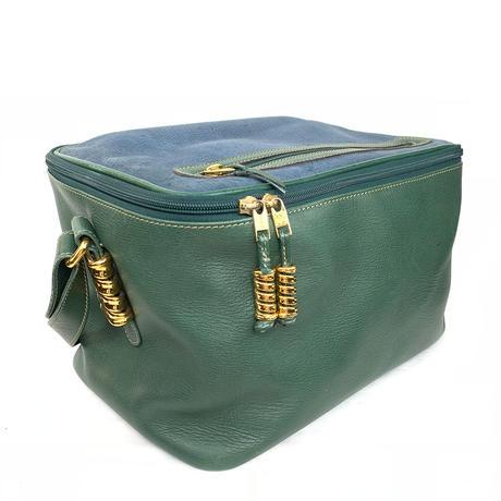 LOEWE ロエベ ベラスケス スクエア ボックス ショルダーバッグ グリーン×ブルー vintage ヴィンテージ オールド