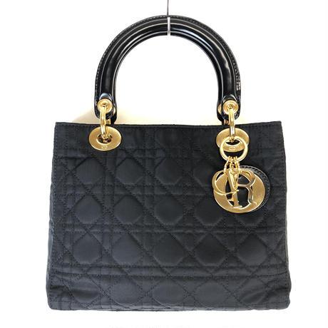 Christian Dior クリスチャン ディオール カナージュ 2way ショルダーバッグ ハンドバッグ ナイロン ブラック vintage ヴィンテージ オールド