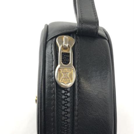0a91312028a8 ... CELINE セリーヌ ガンチーニ ミニ ラウンドバッグ ブラック vintage ヴィンテージ オールドセリーヌ パーティーバッグ ...
