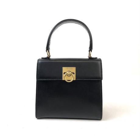 CELINE セリーヌ ガンチーニ ミニ ハンドバッグ  ブラック vintage ヴィンテージ オールドセリーヌ パーティー バッグ