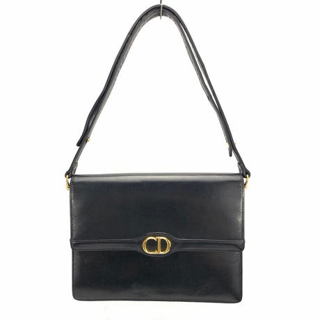 Christian Dior クリスチャン ディオール ロゴ 2way ハンドバッグ ショルダーバッグ ブラック vintage ヴィンテージ オールド